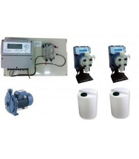 Kit completo para sistema de cloración y contro de pH en depósitos de agua hasta 50 m3